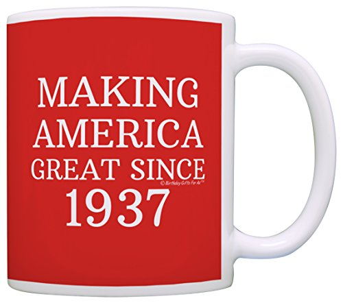80th Birthday Gifts For All Making America Great Since 1937 Republican Mug Republican Gifts Coffee Mug Tea Cup Red