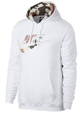 more photos e4958 210ff Nike Sportswear Men's White Camo Pullover Hoodie (Size: Medium) AV5941-100