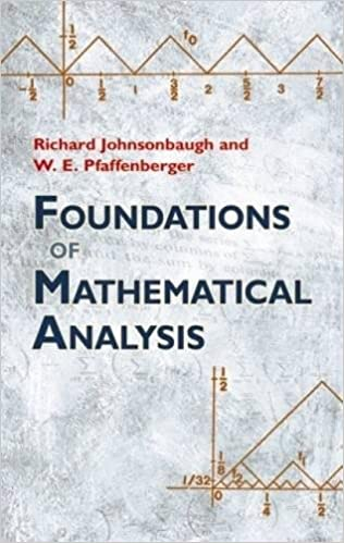 Foundations of mathematical analysis by J  K  Truss PDF