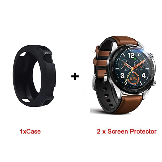 Amazon.com: for Huawei Watch GT Case, Lamshaw Silicone Case ...
