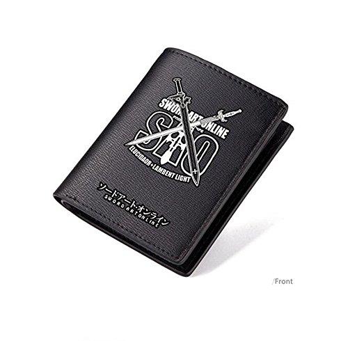 yushert Anime Sword Art Online SAO Cosplay Wallet Black Pu Leather (#01)
