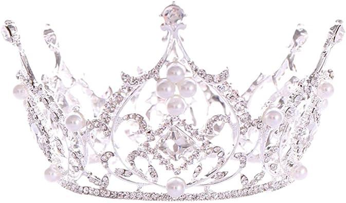 cumplea/ños bodas bailes de graduaci/ón corona de novia Halloween Minkissy fiestas joyas para mujeres y Diadema de estilo barroco para bodas tiara de princesa con cristales brillantes