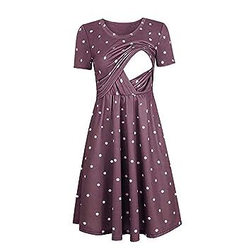 famous designer brand release date delicate colors Amazon.com : Women Dot Print Maternity Dresses Tank Short ...