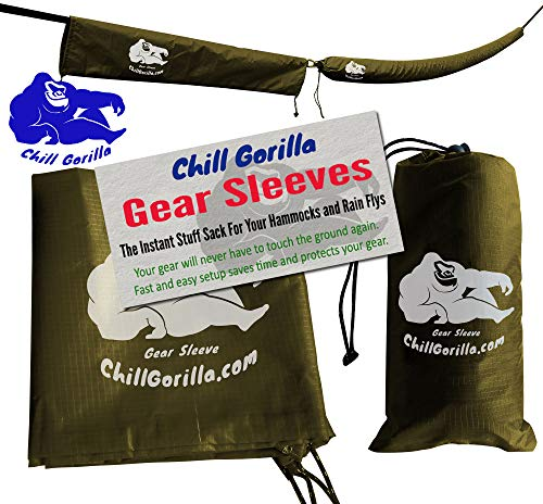 Chill Gorilla Snakeskin Sleeves. Instant Stuff Sack & Protective Cover for hammocks, rain flys, tarps. 173 Total. Packs/unpacks Gear in Seconds. ENO Camping & Backpacking Accessories. OD Green