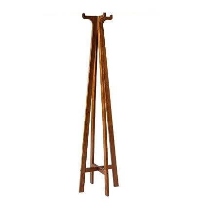 Amazon.com: MEIDUO - Perchero de madera maciza para el suelo ...