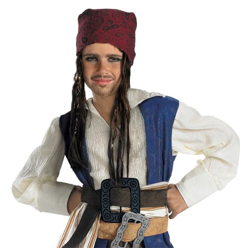 [Disguise Costumes Jack Sparrow Headband with Hair, Boys] (Jack White Halloween Costume)
