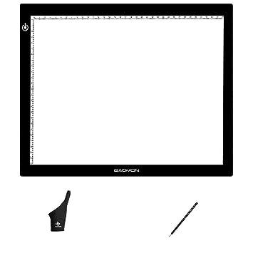 GAOMON GB4 la luz del pad, B4 Tamaño de LED USB Caja de luz 5MM ultrafino Arte Tablero de trazado de Dibujo y Copia