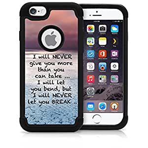 CorpCase iPhone 6 Case / iPhone 6 4.7 Inch Case - Bible Verse Christian Quote I Will Never Give You More Than You Can Take / Hybrid Unique Case With Great Protection