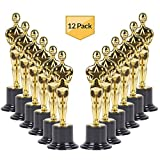 Gold Award Trophy Statues 6 inch (Bulk 12 Pack) Trophies an Essential Reward Prize for Parties, Carnivals, Celebrations,Ceremony's, for Winners and Participants Alike, by-Bedwina