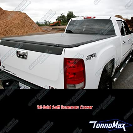 6dcd9599611 Amazon.com  TonnoMax TC-MTF25 6.2  Soft Tri-Fold Tonneau Cover for Toyota  Tundra Double Cab  Automotive