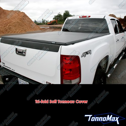 TonnoMax TC-MTF21 5.5' Soft Tri-Fold Tonneau Cover for Ford F-150 Supercrew Cab