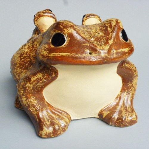 信楽焼 蛙(子2匹) 13号 /陶器置物 B01AD52F9A 13号 13号