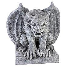 Design Toscano Gomorrah The Gargoyle Gothic Decor Statue, 11 Inch, Polyresin, Greystone