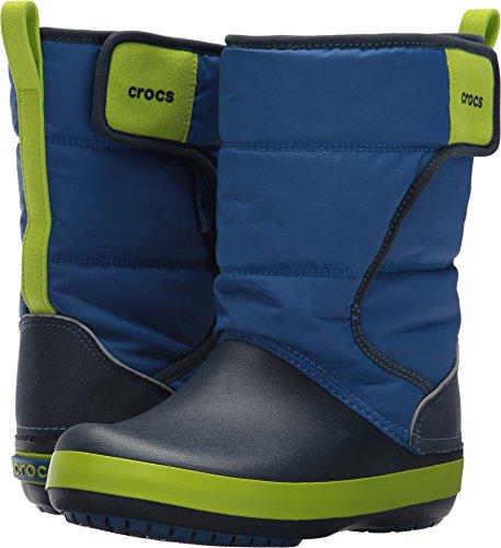 Crocs LodgePoint Snow Boot K, Blue Jean/Navy, 13 M US Little
