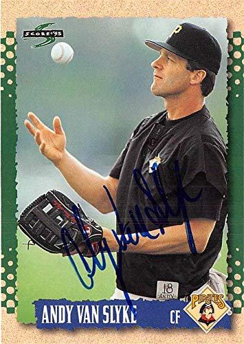 - Andy Van Slyke autographed baseball card (Pittsburgh Pirates) 1995 Score #352