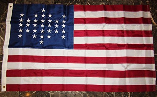 Fort Sumter 33 Star Embroidered Sewn 210D Solarmax Nylon Flag 3'x5' Feet