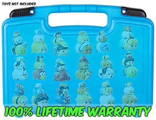 Life Made Better Toy Storage Organizer - Compatible With Tsum Tsum - Durable Carrying Case- Blue