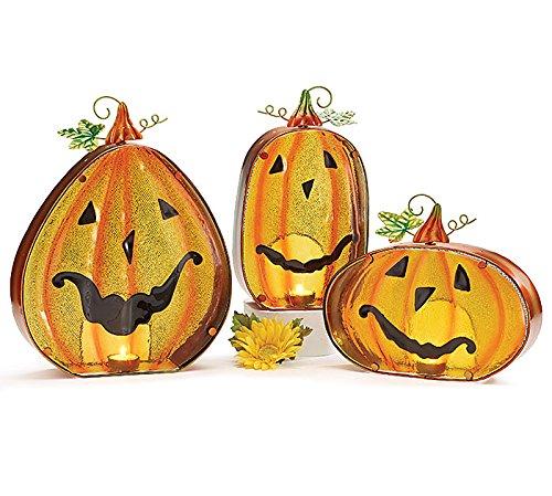 Set of 3 Assorted Jack-o-lantern Candle -