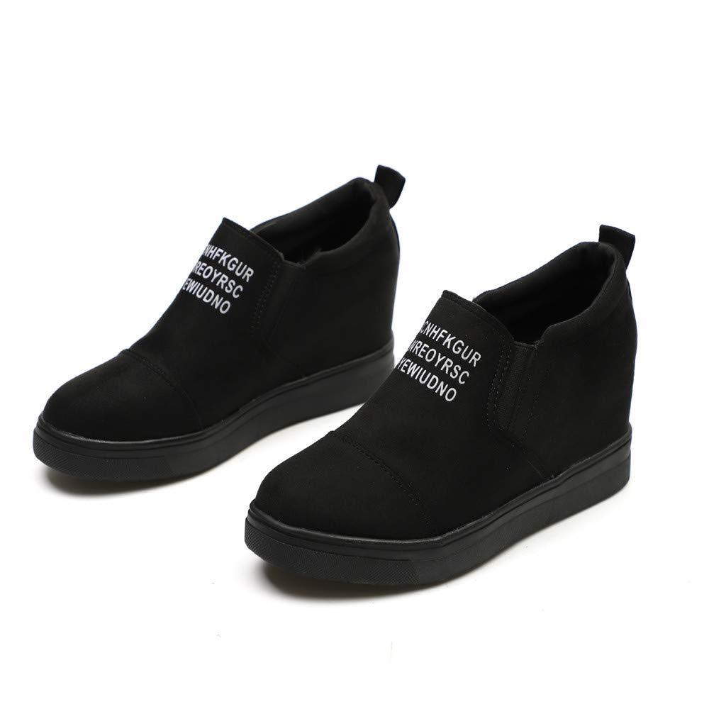 Chenang müßiggänger Schuhe, Innerhalb erhöhen Schuhe,Warm Winterschuhe Stiefel Volltonfarbe Einzelne Schuhe Nackte Stiefel Winterschuhe Combat Stiefel für Damen d18408