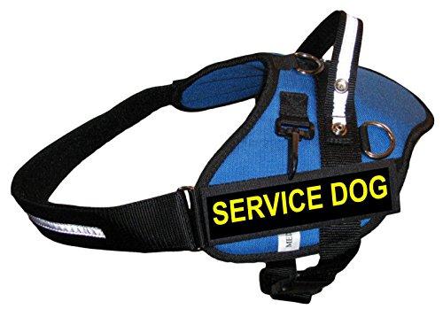 Large Blue Professional Service Dog Harness Includes 2 'SERVICE DOG' Badges Girth - 30'' - 37'' - Redline K9 by RedLine K9