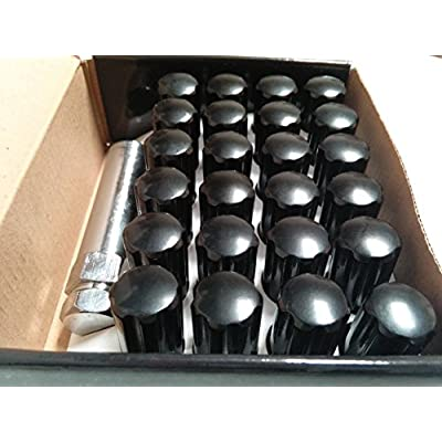 AccuWheel LNS-14150B6 Small Diameter Acorn Spline Drive Black Lug Nuts with Key (14mm x 1.5 Thread Size) - Pack of 24 Lugnuts: Automotive