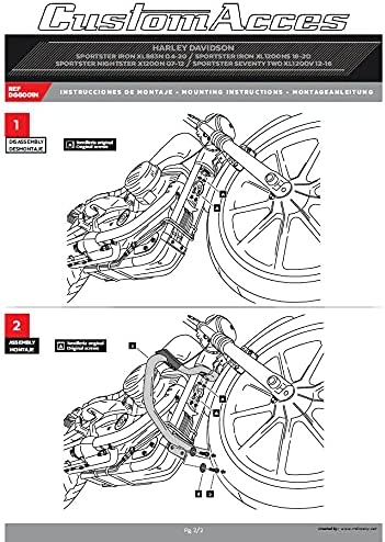 Cornici e raccordi Customaccess AZ1243N Protezione del Motore ...