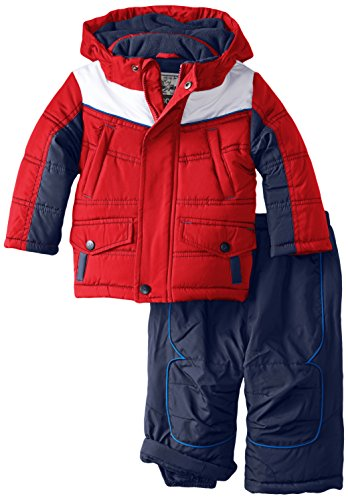 Rothschild Baby Boys' Snap Pocket Snowsuit, Red, 18 Months (Joker Suit For Sale)
