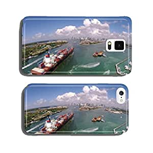 Cargo ship enters port aerial view cell phone cover case iPhone6 Plus