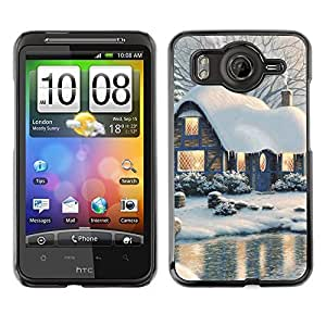 YOYO Slim PC / Aluminium Case Cover Armor Shell Portection //Christmas Holiday Snowy Lake House 1146 //HTC G10
