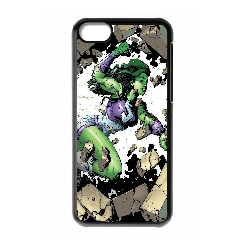 N5C49 Elle Hulk L2W3MK cas d'coque iPhone de téléphone cellulaire 5c couvercle coque noire KT6KKV4YQ