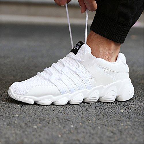 Jtomoo Männer leichte atmungsaktive stricken Lässige Sportschuhe Weiß