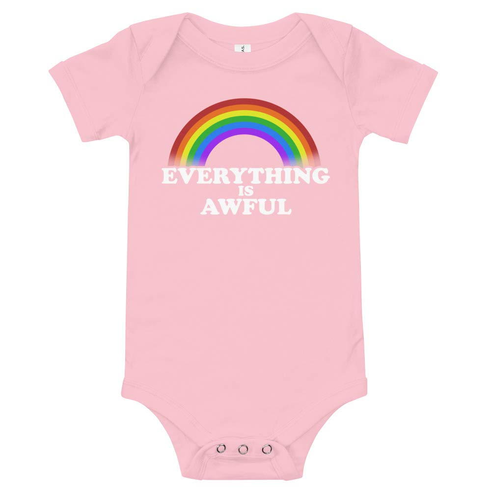 JFWcreations Everything is Awful Baby Bodysuit