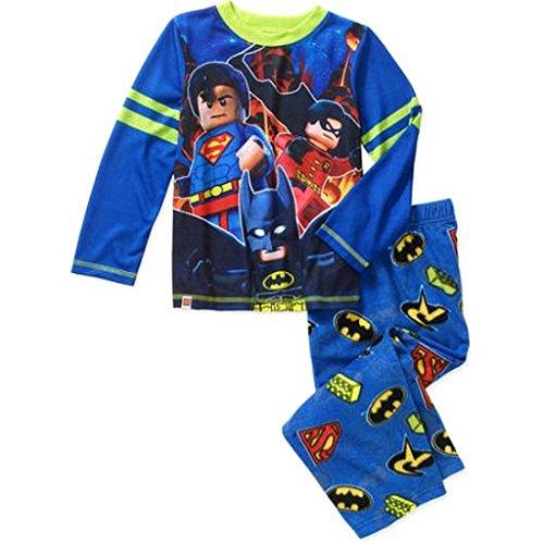 Boy's Size 8 LEGO BATMAN, SUPERMAN Polyester Fleece Pajama Set