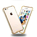 CenterPoint iPhone 7 Case and Cover - Four Corners Thicken Shockproof Case Perfect Design Transparent - Gold Colour