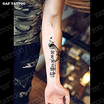 Zokey impermeable tatuaje temporal sánscrito om mani padme hung ...