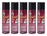 QTY5 3M SUPER 77 7.3 OZ SPRAY GLUE ADHESIVE CAN FOR CAR AUDIO COMPETITION BOX