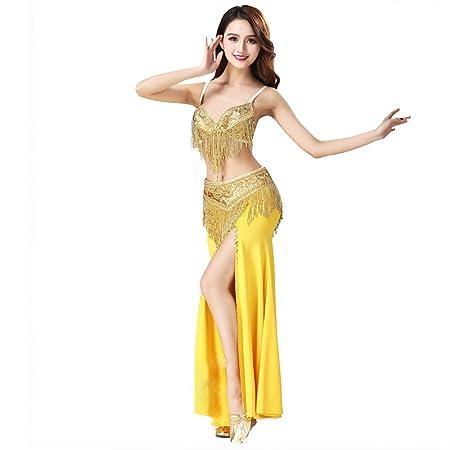 Falda de baile de las mujeres Disfraz de danza del vientre Falda y ...
