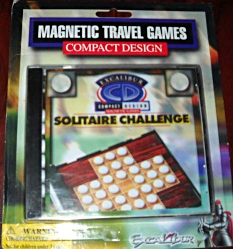 Excalibur Travel Chess (Solitaire Challenge by Excalibur Magnetic Travel Compact Design)