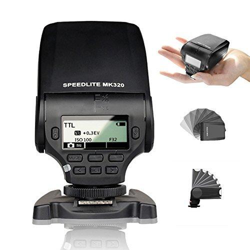 EACHSHOT MK-320 TTL Flash Speedlite for Panasonic Lumix DMC GF7 GM5 GH4 GM1 GX7 G6 GF6 GH3 G5 GF5 GX1 GF3 G3