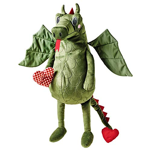 Flygdrake 004.142.98 IKEA Dragon Heart Dinosaur Stuffed Animal Children's Soft Toy Play, Green