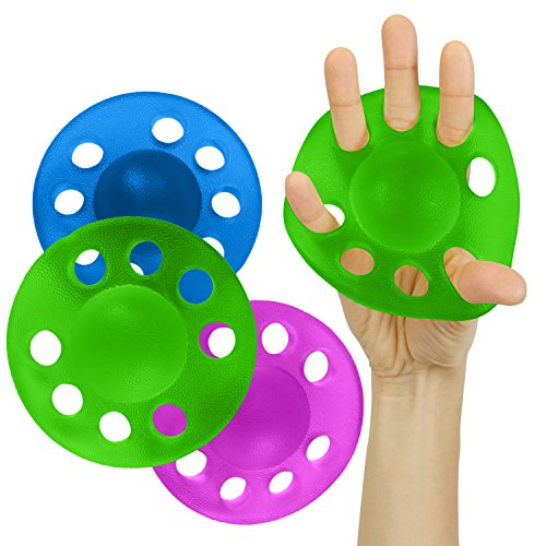 Vive Hand and Finger Strengthener - Grip Exerciser Stretcher Balls - Therapy Exercises for Arthritis, Carpal Tunnel, Forearm Muscle Strength Band Guitar, Rock Climbing Resistance Strengthening