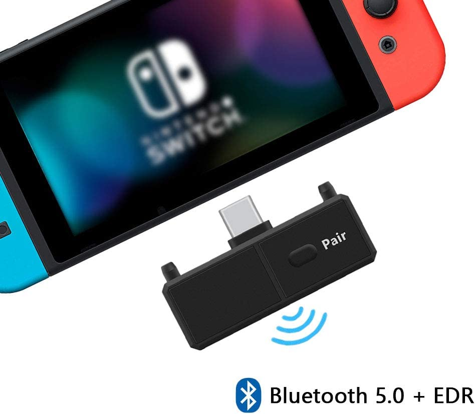 Amazon Com Bluetooth Adapter For Nintendo Switch Ps4 Pc Tv Bluetooth Wireless Audio Transmitter With Low Latency Connect Your Airpods Bluetooth Speakers And Headphones Mp3 Players Accessories