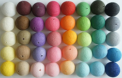 - Exotic Elegance Multicolored 40 Cotton Yarn Balls Supplies for String Lights / Home /Decoration /Wedding Party