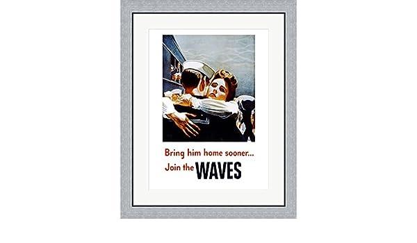 Amazon.com: Bring Him Home Sooner Join the Waves Framed Art Print ...