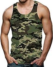RAISEVERN 3D Grafik Drucken Ärmellose T-Shirts Lustige Muster Sommer Tank Top Weste Muskelshirt für Herren