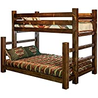 Montana Woodworks MWHCBBTFNSL Homestead Collection Full Bunk Bed, Twin, Stain & Lacquer