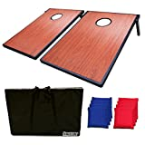 Hohaski Cornhole Game Set with 8 Bean Bags and Travel Carrying Case- Tic Tac Toe 2 Games In 1