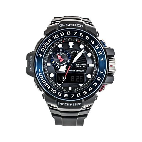 CASIO Reloj Analógico-Digital para Hombre Correa en Resina GWN-1000B-1BER 2