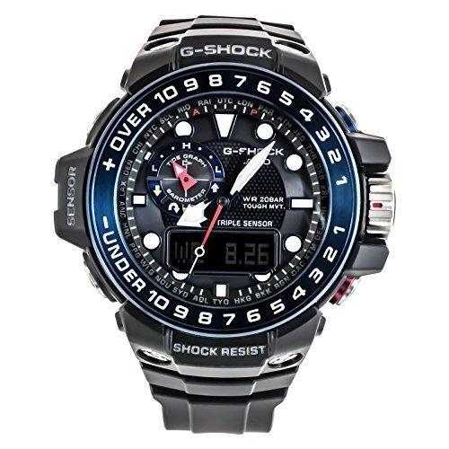 CASIO Reloj Analógico-Digital para Hombre Correa en Resina GWN-1000B-1BER 1