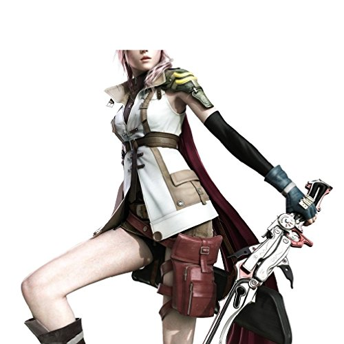 Cosplay Costume Final Fantasy XIII 13″ Lightning Sleeveless Coat With Accessories